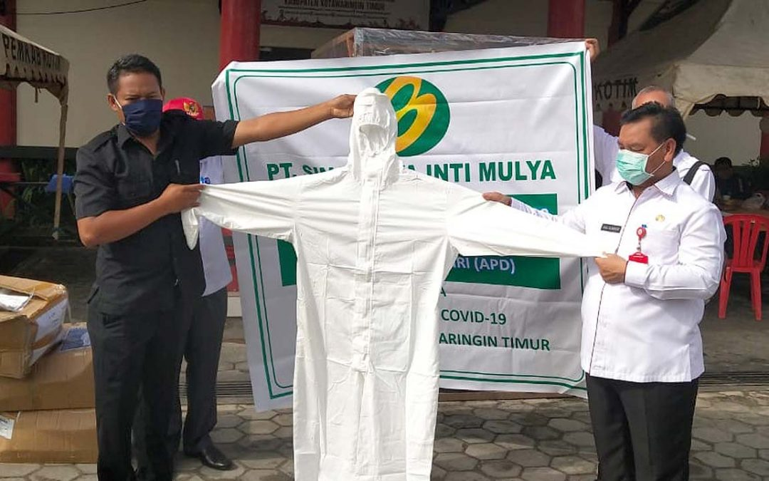 SJAI Hand Over PPE Donation in Sampit